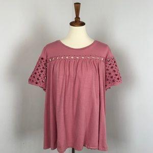 Lane Bryant | Crochet Wide Sleeve Blouse